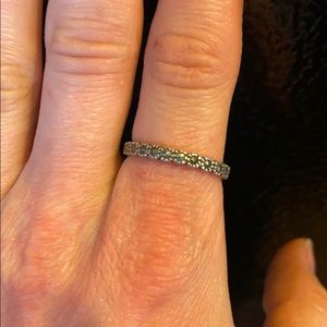Sterling silver and marcasite ring size 7.5